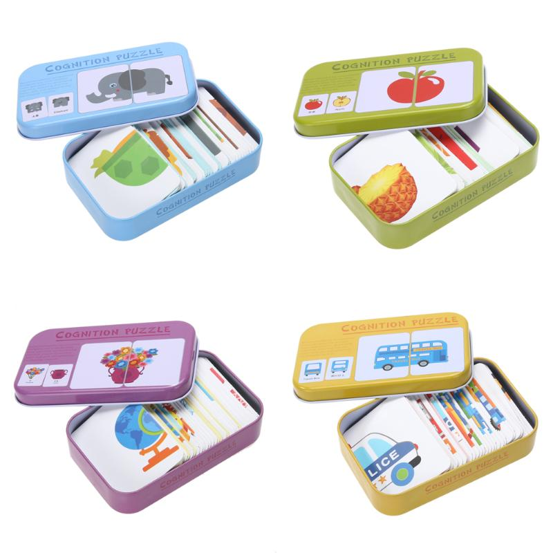 Educational Kiddie Stuff: Puzzle Toys Cognitive Cards Set
