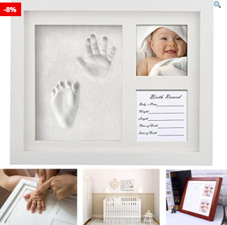 Hand/Foot Imprint In Photo Frame